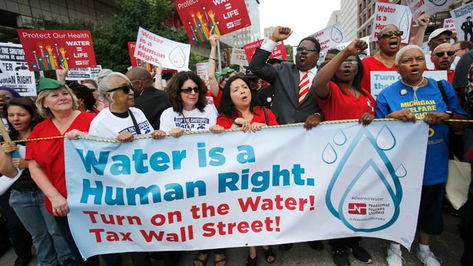 March Protesting Water Shut-Offs