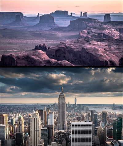 Florian Westermann: Hunts Mesa – Arizona and Empire State Building II – NY