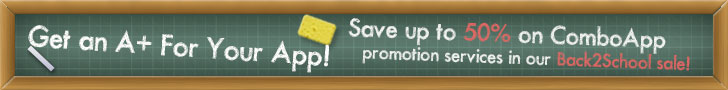 Save up to 50% on ComboApp promotion services in our Back2School  sale!