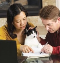 pet sitter with client