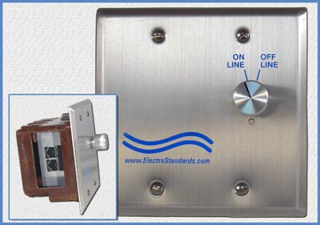 Model 7190 RJ45 Online/Offline Double Gang Wallbox Switch