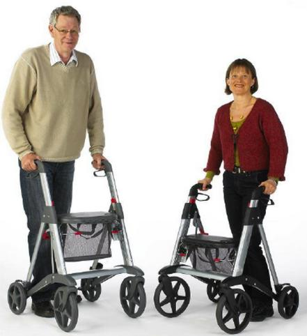 Active by Access Rollator with Adjustable Seat and Handle Heights.