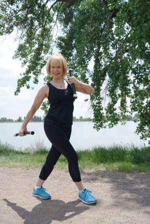 Nationally-recognized trainer June Kahn demonstrates the Body Bar Flex Trek