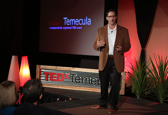 Wes Schaefer speaking at last year's TEDxTemecula