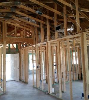 Saratoga Model Home Under Construction