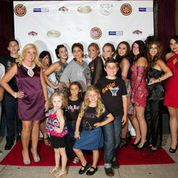 Designer India Vazquez with Models on the Red Carpet Photo Credit Danny Chin