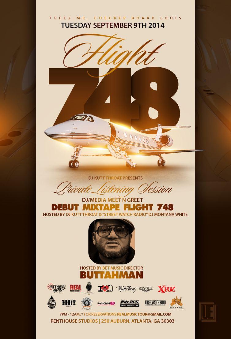 BET MUSIC DIRECTOR BUTTAHMAN, HOST @FREEZTV FLIGHT 748 MIXTAPE RELEASE