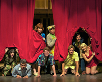 "The cast of ""Noises Off."""