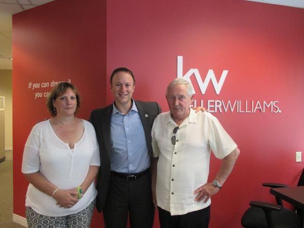 Ron Carpenito with Ed and Jennifer