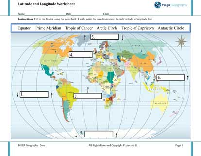 ... geography curriculum worksheets and resources - Mega Geography.Com