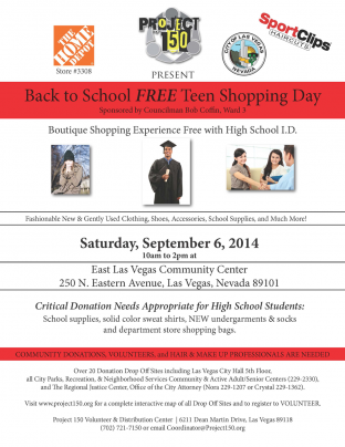 Project 150 Back To School FREE Teen Shopping Day!