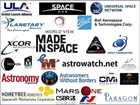 Many kinds of space companies and organizations have joined Beam Me to Mars