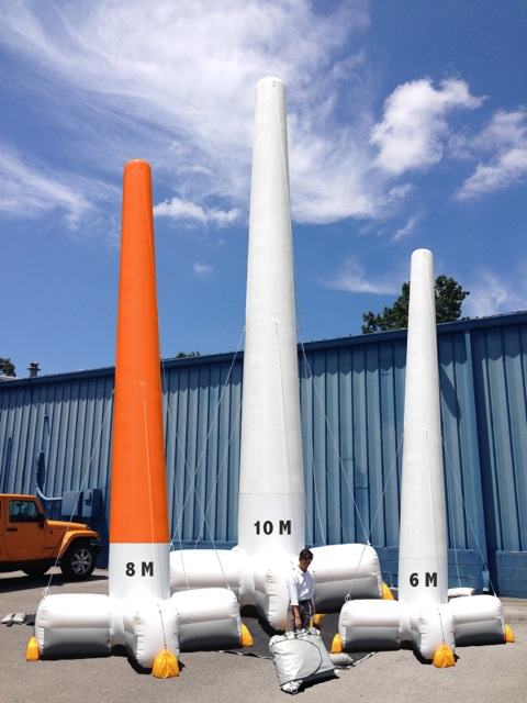 AIRBASE Inflatable Towers (l-r):  8M, 10M and 6M