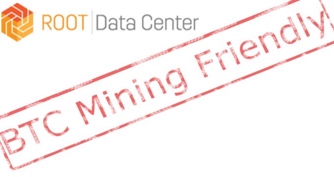 ROOT Data Center is BTC Mining Friendly