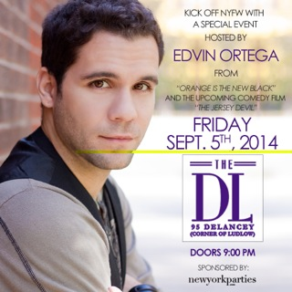 Edvin Ortega Hosting NYFW Kickoff Party at The DL Friday