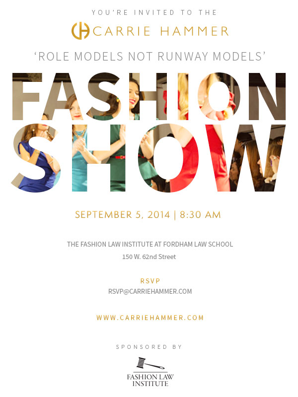 Carrie Hammer NYFW Show This Friday