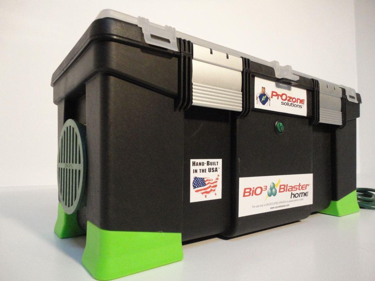 High output ozone generator kills toxic mold.