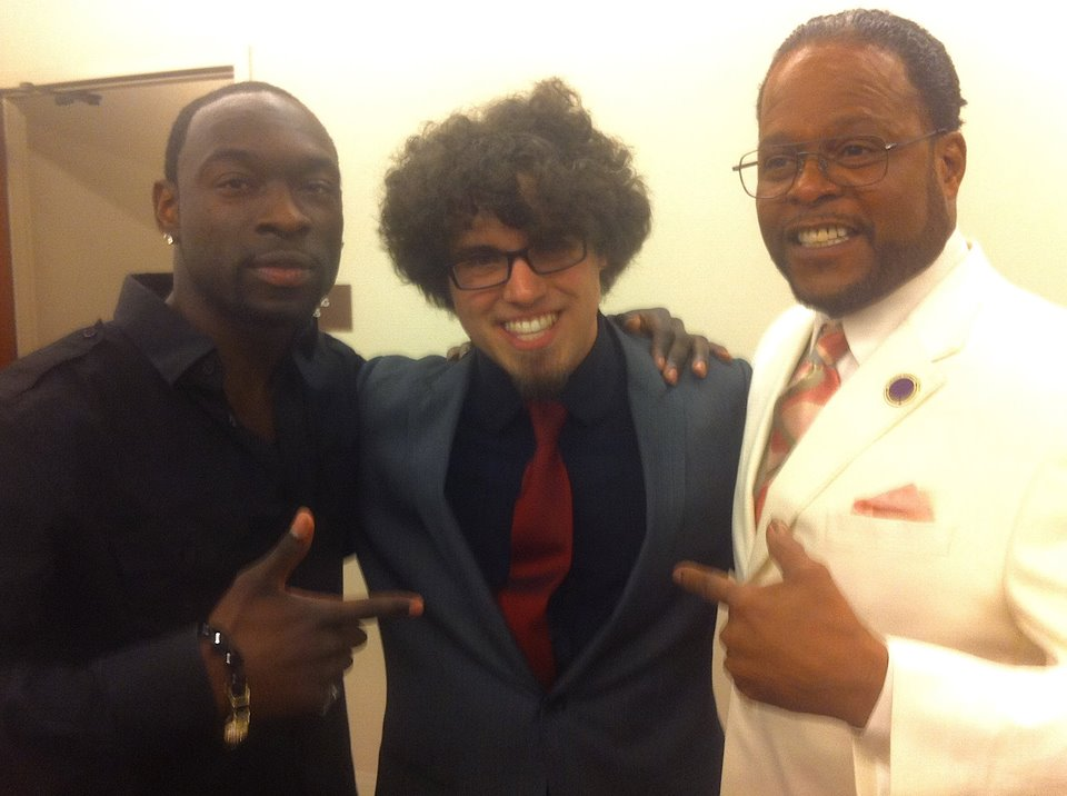 "Cecil Jones, Drew Schultz, and Reginald Torian at ""The Story of Curtis Mayfield"""