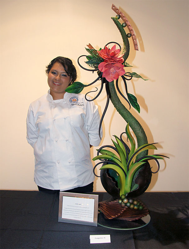 Pastry Live 2014 - Nayeli Gallegos, 1st place in the Student Chocolate Challenge