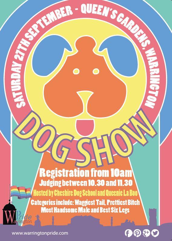 Warrington Pride Dog Show Poster