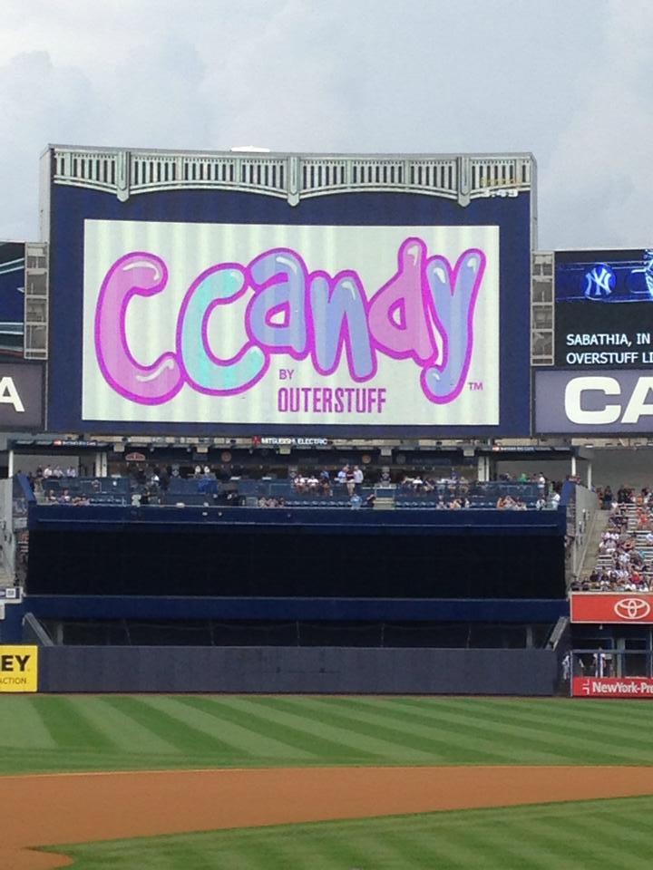CCandy logo on the Yankees Jumbotron