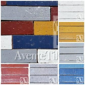 Avente Tile's Glazed Brick Collection