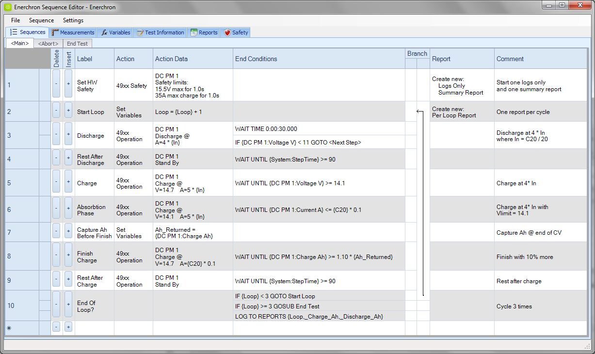 NH Research, Inc.'s Enerchron sequence editor