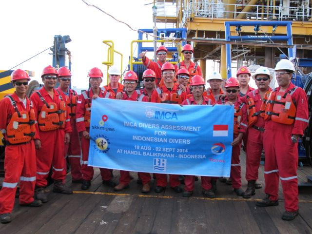 12 Divers Successfully completed the IMCA Surface Supplied Diving Assessment