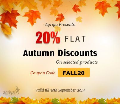 Agriya's 20% discount