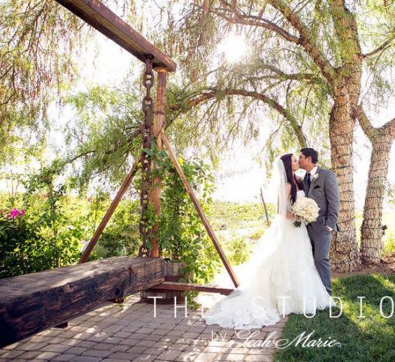 New Swing at Villa de Amore, Southern California Premiere Wedding Venue
