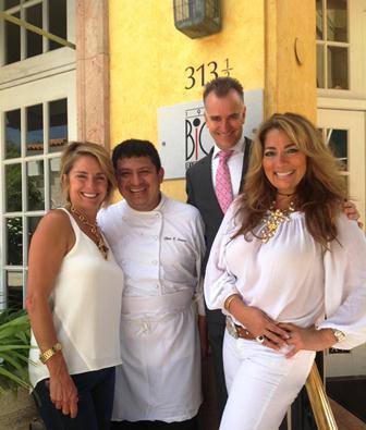 Maribel Alvare, Chef Elmer Saravia, Jose Gonzalez and Chef Maude Eaton