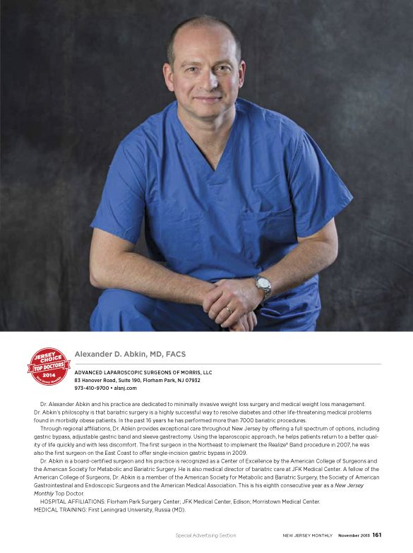 2014 Top Docs in Bariatric Surgery