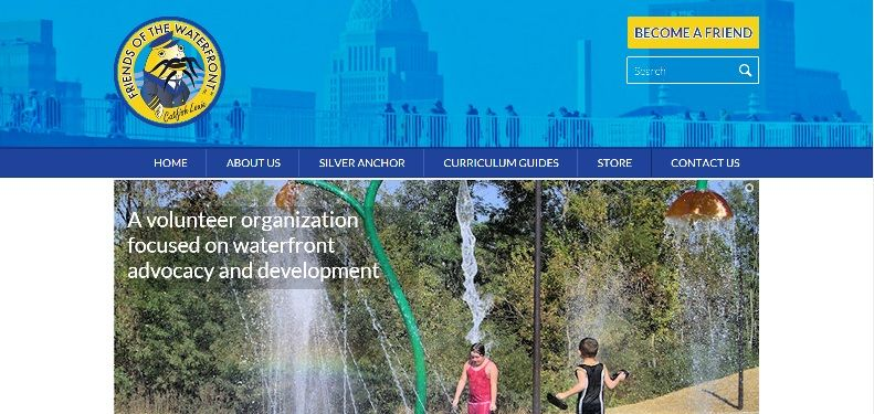 Friends of the Waterfront launches new custom website designed by Honeywick