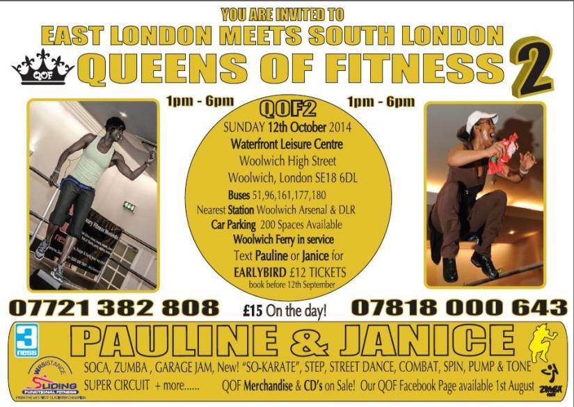 Queens of Fitness 2, see you on 12 October 2014!