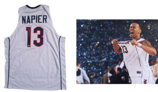 Shabazz Napier Signed UCONN Jersey and Photo