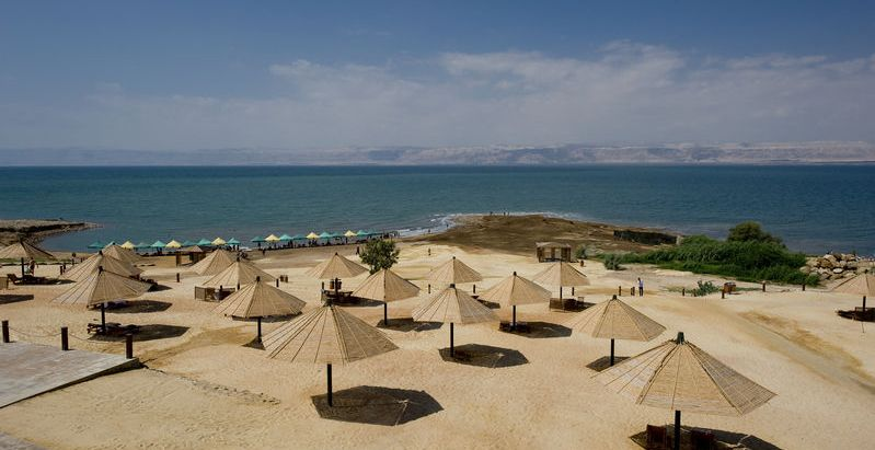 View of the Dead Sea from Jordan