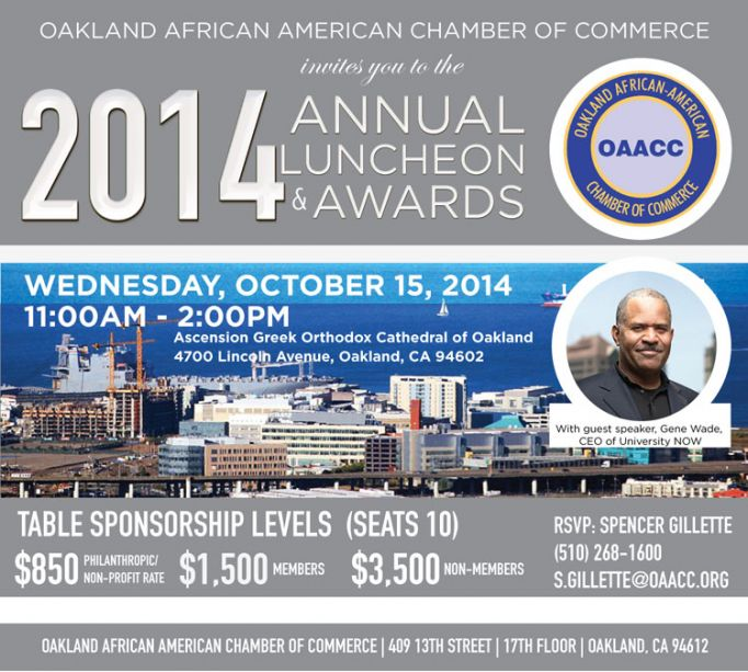 Education focus at oakland african american chamber of for American chambre of commerce