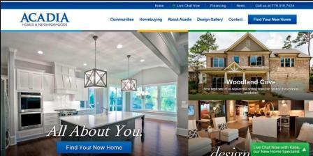 Acadia Homes Neighborhoods Builds Sleek New Brand Image