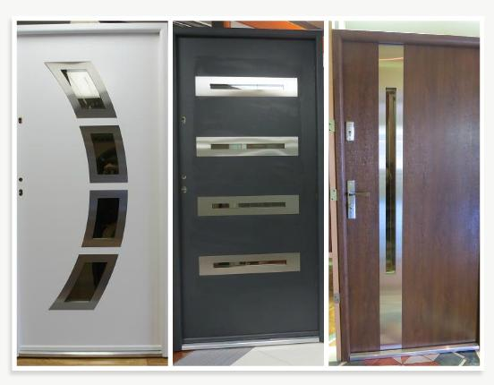 Modern and contemporary front entry exterior doors on sale for Steel front doors for sale