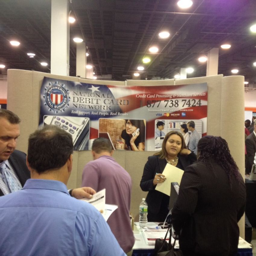 National Debit Card Network speaking with potential employees.