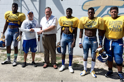 The Clewiston Tigers received a $10,000 contribuiton from U.S. Sugar