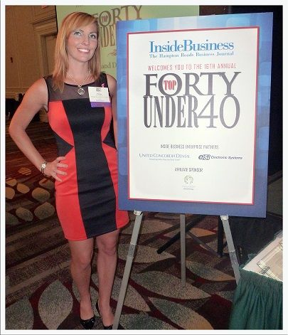 Colleen Hall at the Top 40 Under 40 Awards Ceremony