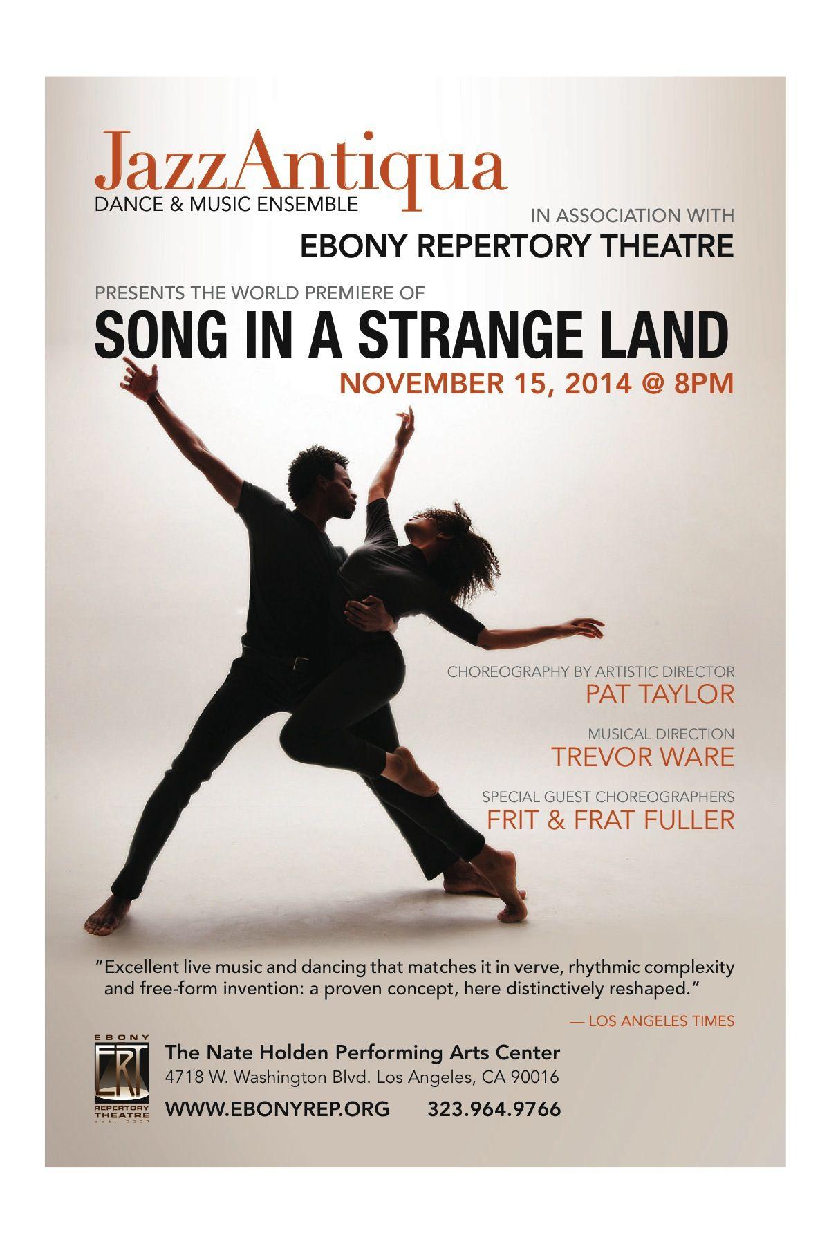 "JazzAntiqua Premieres ""Song in a Strange Land"" - Nov. 15, 2014"