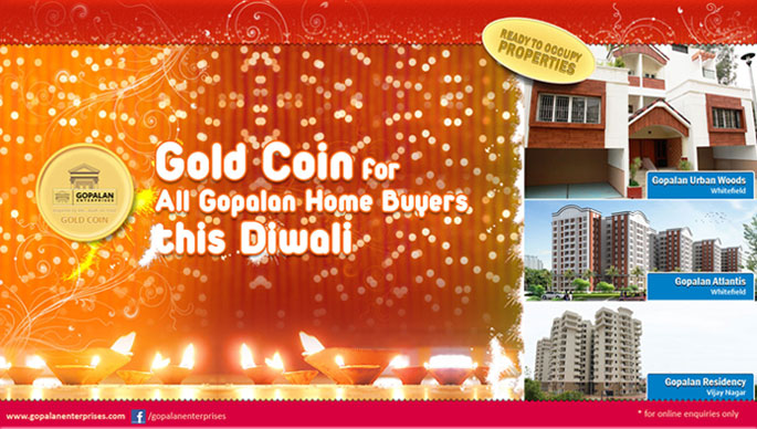 Gold Coin for All Gopalan Home Buyers