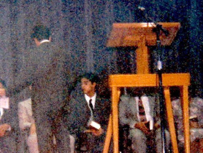 As an ordained minister, preparing to speak to an audience of 4,000 in the 1990s