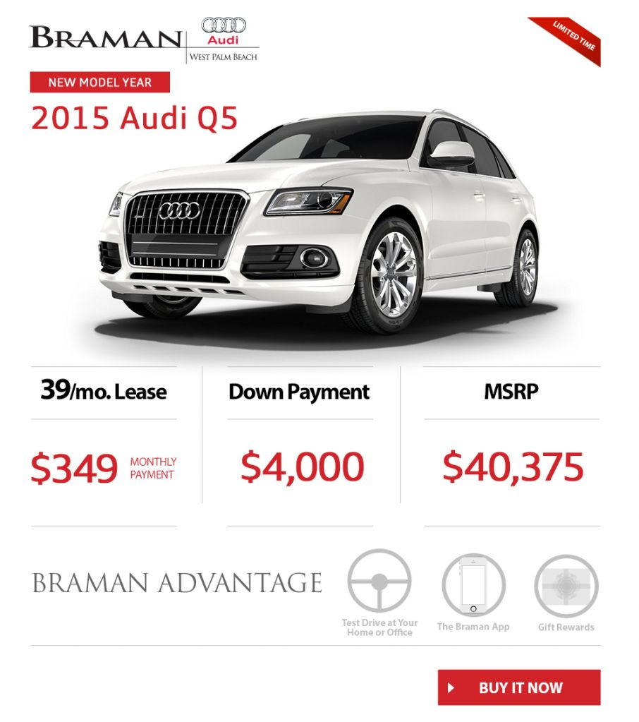 Special Offer: New 2015 Audi Q5 In West Palm Beach