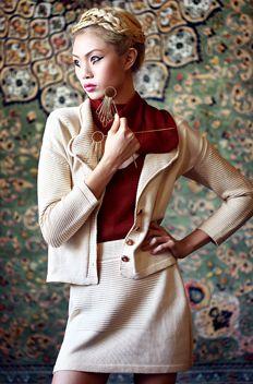 Myrrhia Fine Knitwear Spring 2015: Commander Cardi and Skirt Combo