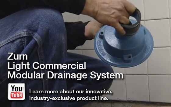Zurn launches video for its new patent pending light commercial zurn youtube video about its new light commercial modular drainage system aloadofball