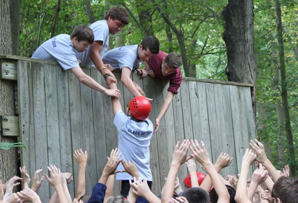 Devon Prep freshmen learn to trust each other during Adventure Education Day.