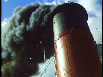 ocean container vessel smoke